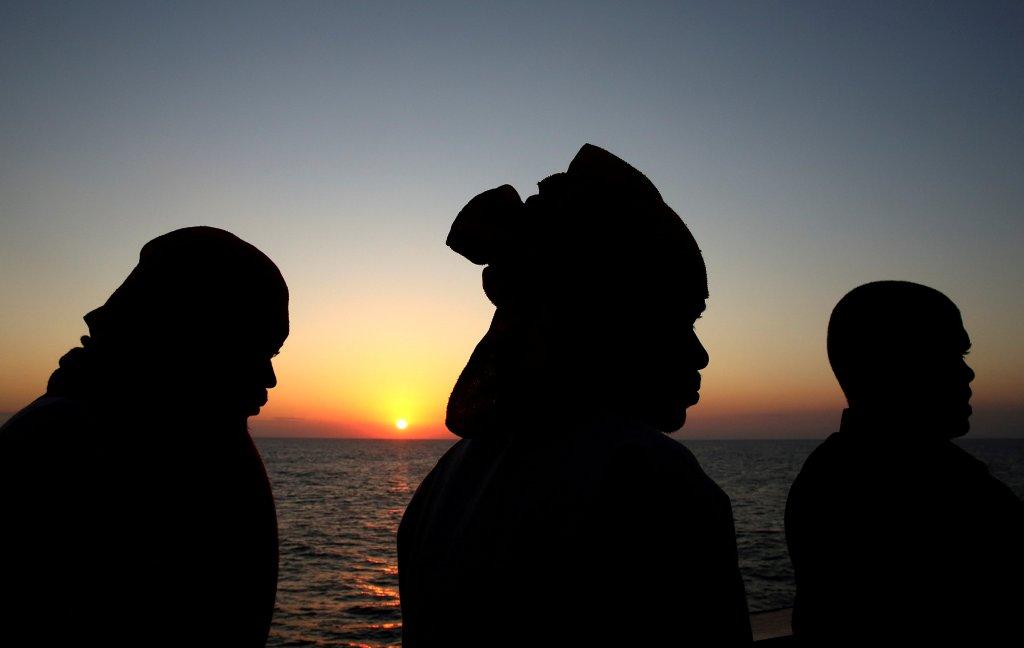 REUTERS/Stefano Rellandini  Migrants au large des côtes libyennes, le 19 juin 2017. (Image d'illustration)
