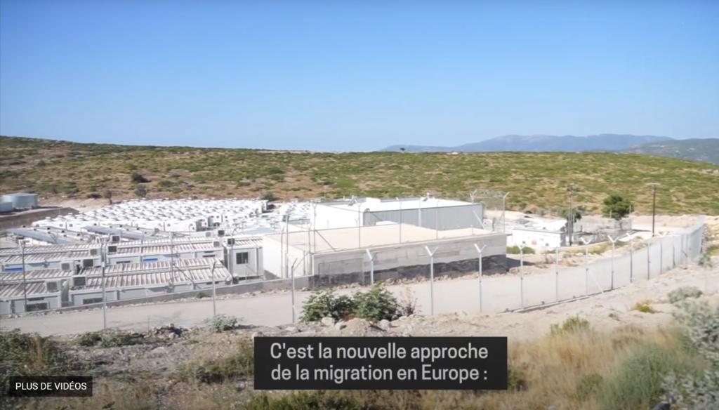 مخيم جديد تقيمه السلطات اليونانية على جزيرة ساموس. المصدر: صورة من فيديو لأطباء بلا حدود