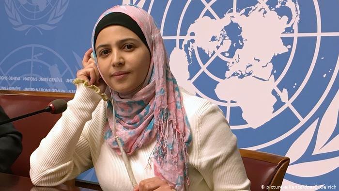 "picture-alliance/dpa/C. Oelrich |الناشطة السورية مزين المليحان: ""عندما تتمتع بالتعليم، فلن يمكن لأي شخص أن يسلبه منك"""