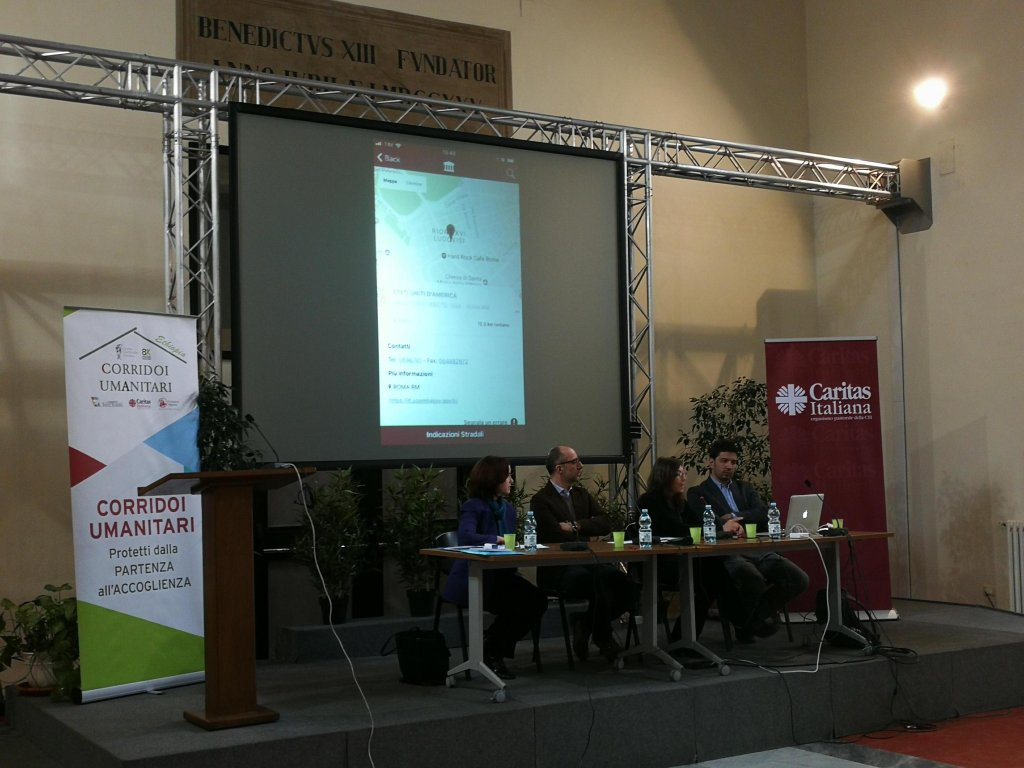 Image of the presentation of the app in Rome. Credit: Stefano Intreccialagli/ANSA)