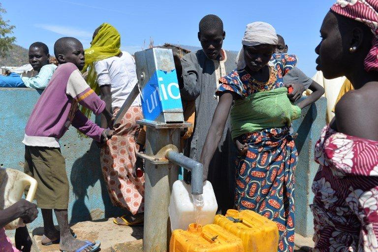 Reinnier KAZE / AFP |Réfugiés nigérians du camp de Minawao au Cameroun qui ont fui leur pays pour échapper aux exactions de Boko Haram (photo d'archives).