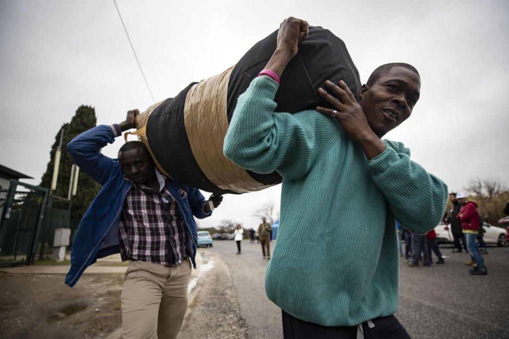 Migrants and asylum seekers at the CARA refugee center in Castelnuovo di Porto, Rome, 22 January 2019.   Photo: ANSA/Massimo Percossi