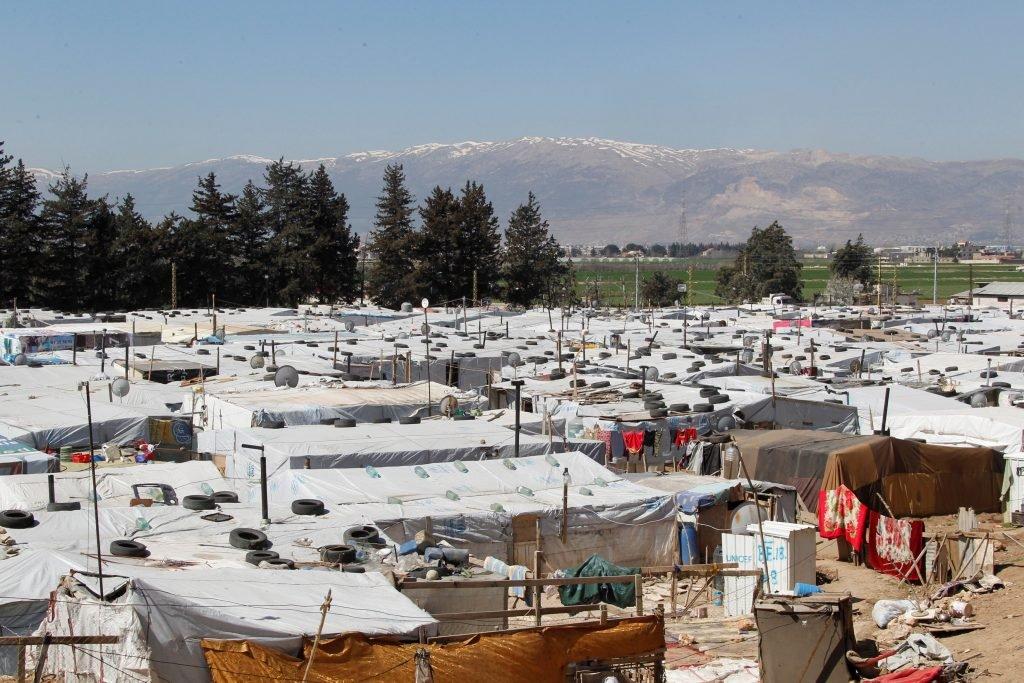 أحد مخيمات اللجوء السورية في مدينة برالياس في منطقة البقاع اللبنانية، 28 آذار/مارس 2017 - رويترز