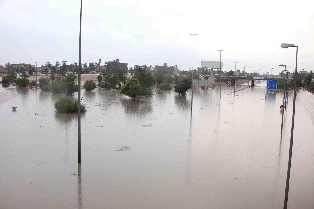 ANSA / فيضانات في ليبيا. المصدر: إي بي إيه/ صبري المهداوي.