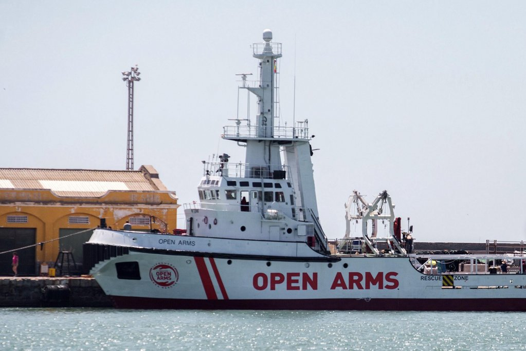 The NGO Open Arms vessel arriving at Burriana Port in Valencia, Spain, 14 June 2018. EPA/Domenech Castello