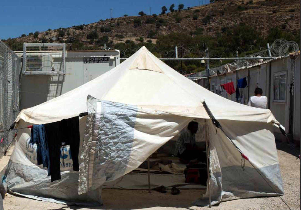 Islands like Kos and Leros have been largely forgotten by the media, even though residents in camps there too are living in difficult conditions | Source: Refugee Rights Europe
