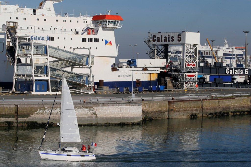ميناء كاليه، محطة وصول العبارات القادمة من المملكة المتحدة، 26 شباط/فبراير 2019. رويترز