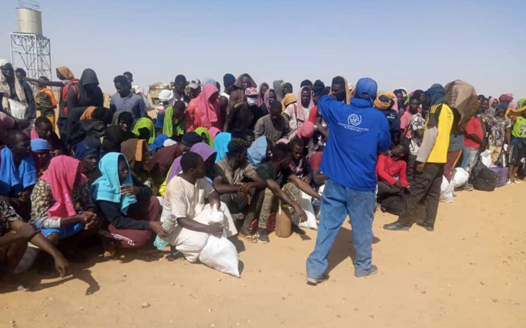 Le 26 novembre 2020, plus de 400 migrants ont passé la frontière nigérienne. Crédit : OIM Niger