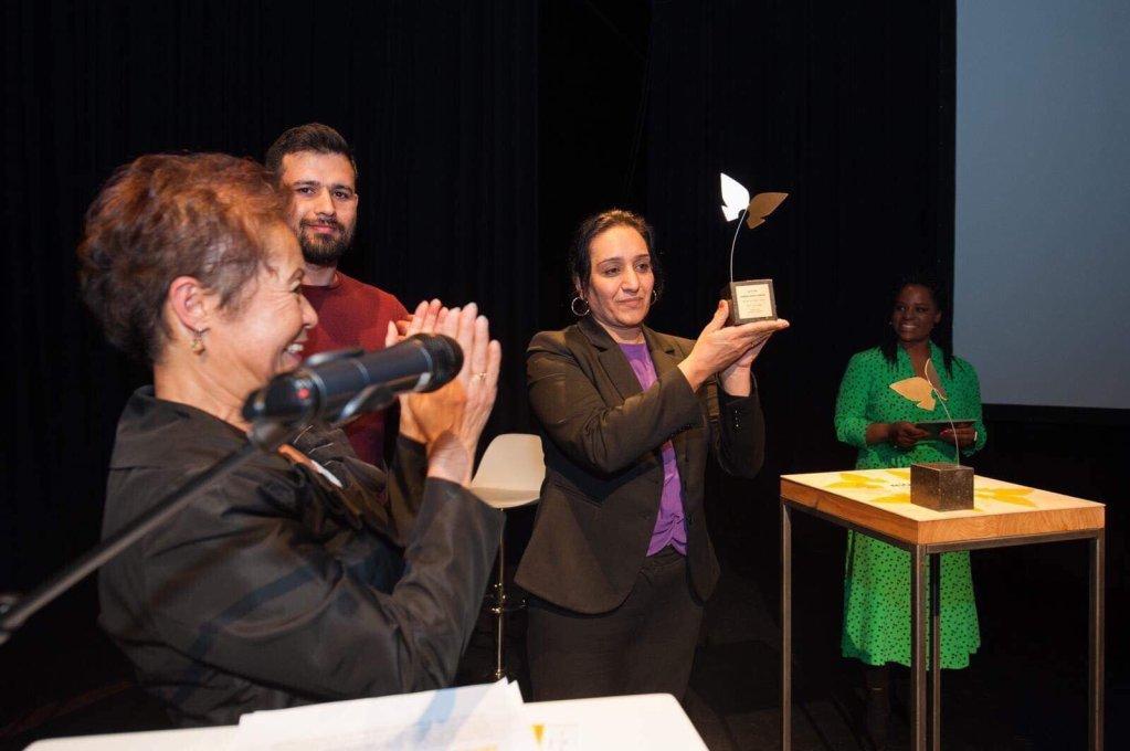 عکس ارسالی شکیلا ابراهیم خیل: شکیلا ابراهیمخیل مهاجر افغان در آلمان برنده جایزه 'فعال حقوق بشر' شد