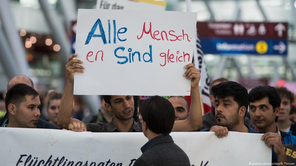 Many people oppose forced returns, which cost Germany more than €8 billion last year