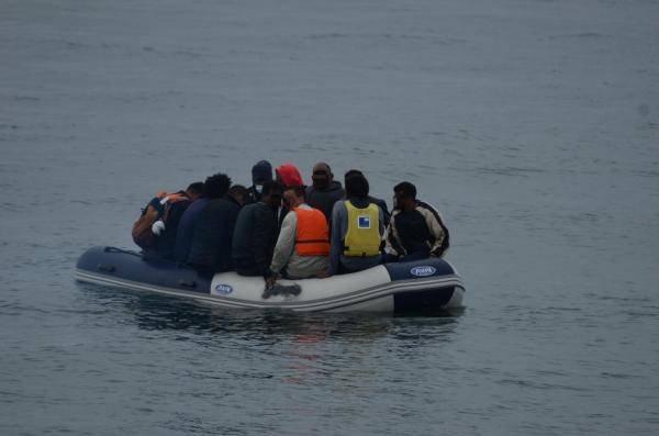 یک قایق مهاجران در کانال مانش. عکس از فرمانداری دریای شمال فرانسه