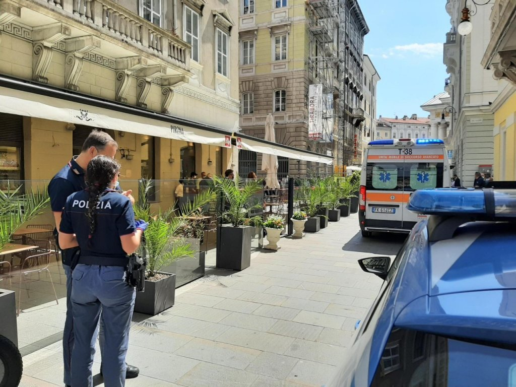 A police patrol in Trieste: Photo: ARCHIVE/ ANSA / Francesco De Filippo