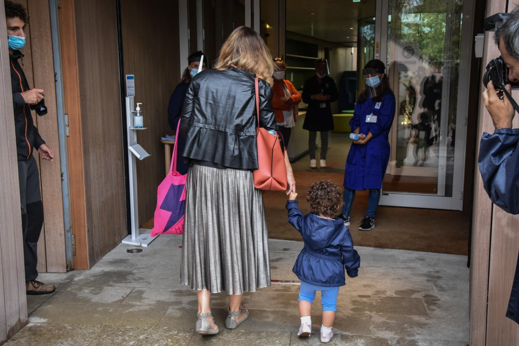 First day at nursery school on Via Demetrio Stratos at Citylife, Milan, 7 September 2020 | Photo: ANSA/M. Corner