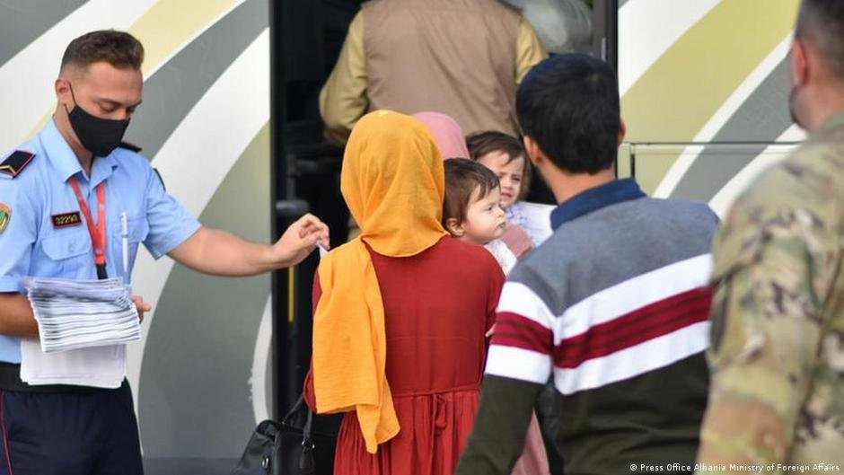 Afghan refugees arrive in Albania's capital Tirana on August 28, 2021 | Photo: Press Office Albania Ministry of Foreign Affairs