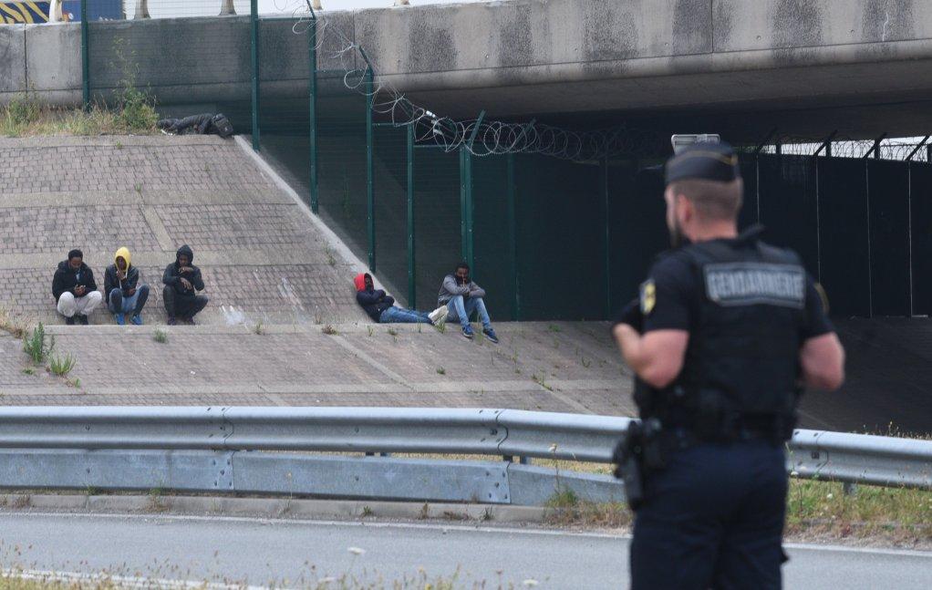 """Démantèlement du camp dit """"BMX"""" à Calais, le 18 juillet 2019. Crédit : Mehdi Chebil / InfoMigrants (archives)"""