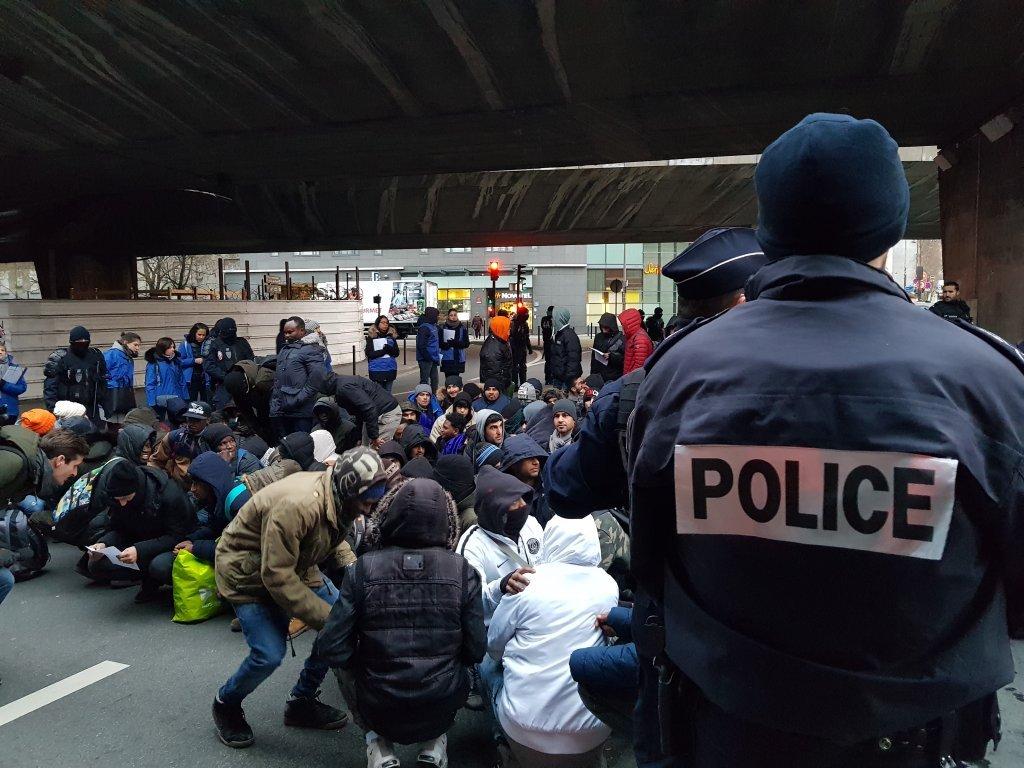 آرشیف: عملیات تخلیه اردوگاه مهاجران در پاریس، ۲۹ جنوری ۲۰۱۹. عکس: مهاجرنیوز/ ان دیاندرا