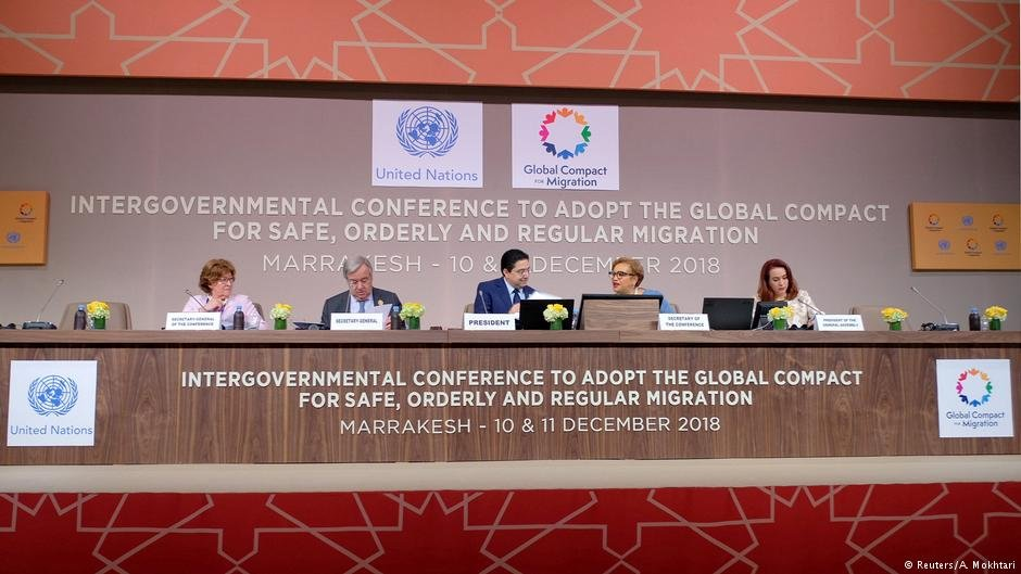 UN Secretary General Antonio Guterres at the Inter-Governmental conference to adopt the Global Compact for Safe, Orderly and Regular Migration in Marrakech, Morocco | Photo: Reuters / A. Mokhtari