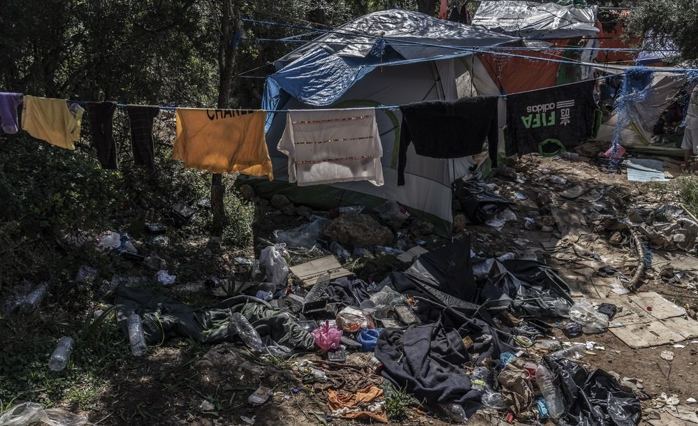 مخيم ساموس آذار/ مارس 2019. المصدر: منظمة أطباء بلا حدود