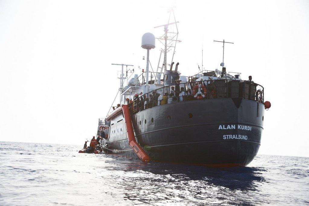 کشتی آلان کردی. عکس از پی ای پی/فابیان هاینز، سی ای.