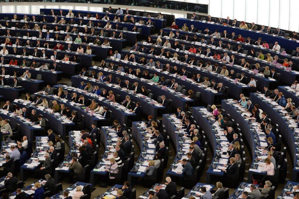 ansaمشهد عام لأعضاء البرلمان الأوروبي أثناء التصويت في البرلمان. المصدر: إي بي إيه.