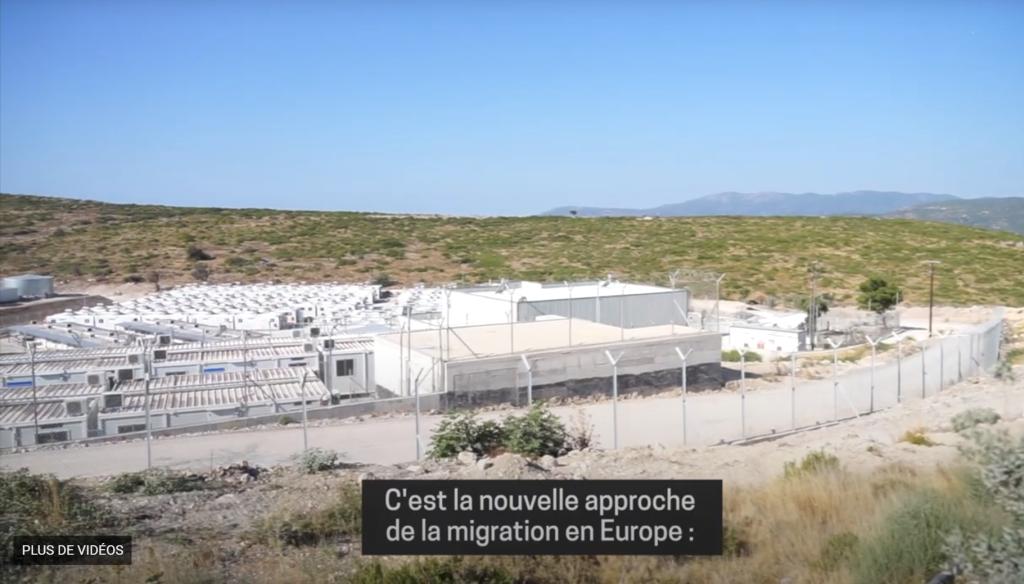 Le nouveau camp de Samos doit accueillir prochainement les migrants débarqués sur l'île. Crédit : Capture d'écran/MSF