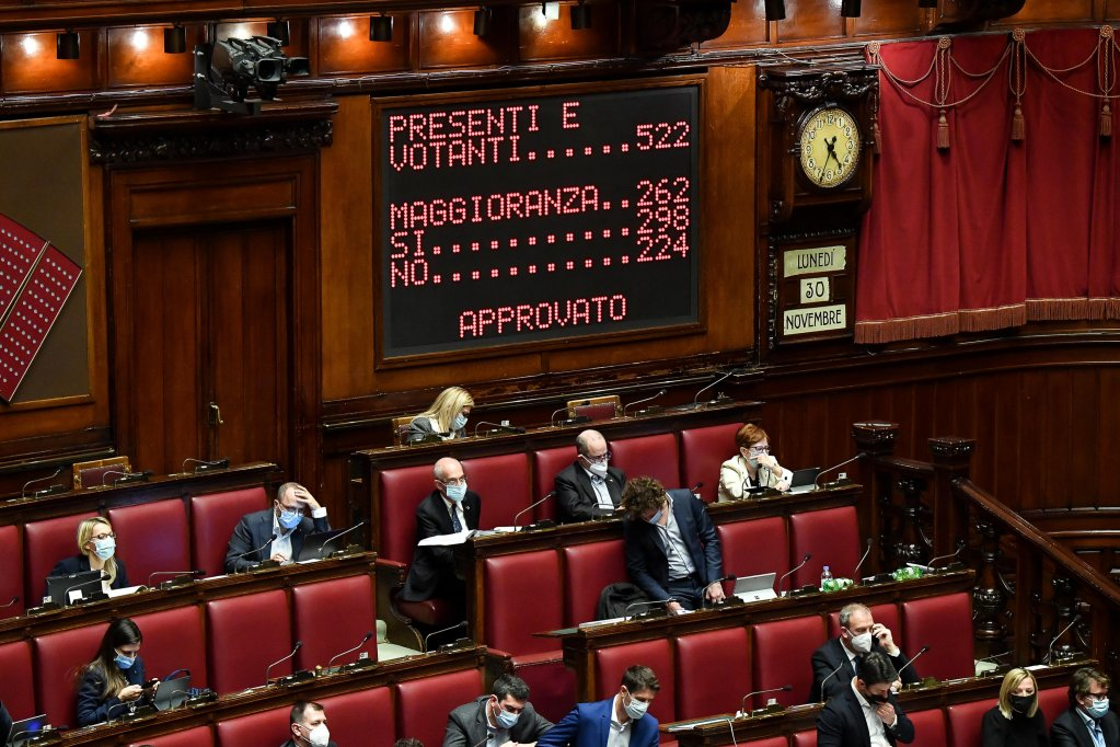 التصديق على المرسوم الأمني في مجلس النواب الإيطالي خلال 9 كانون الأول/ ديسمبر الجاري. المصدر: أنسا/ أليساندرو دي ميو.