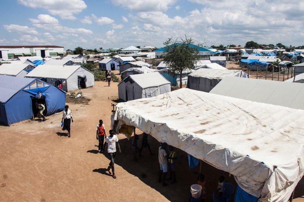 Akuot CHOL / AFP |Vue générale du camp de déplacés de Mangateen à Juba au Soudan du Sud.
