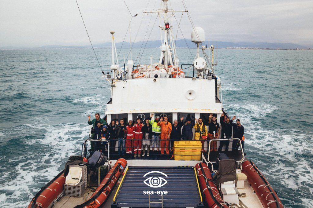 The volunteer crew on board the Alan Kurdi rescue ship | Photo: Sea-Eye
