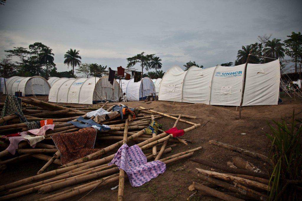 De plus de 300 000 en 2011, il reste aujourd'hui environ 50 000 réfugiés ivoiriens. Ici, un camp au Liberia. Crédit : AFP