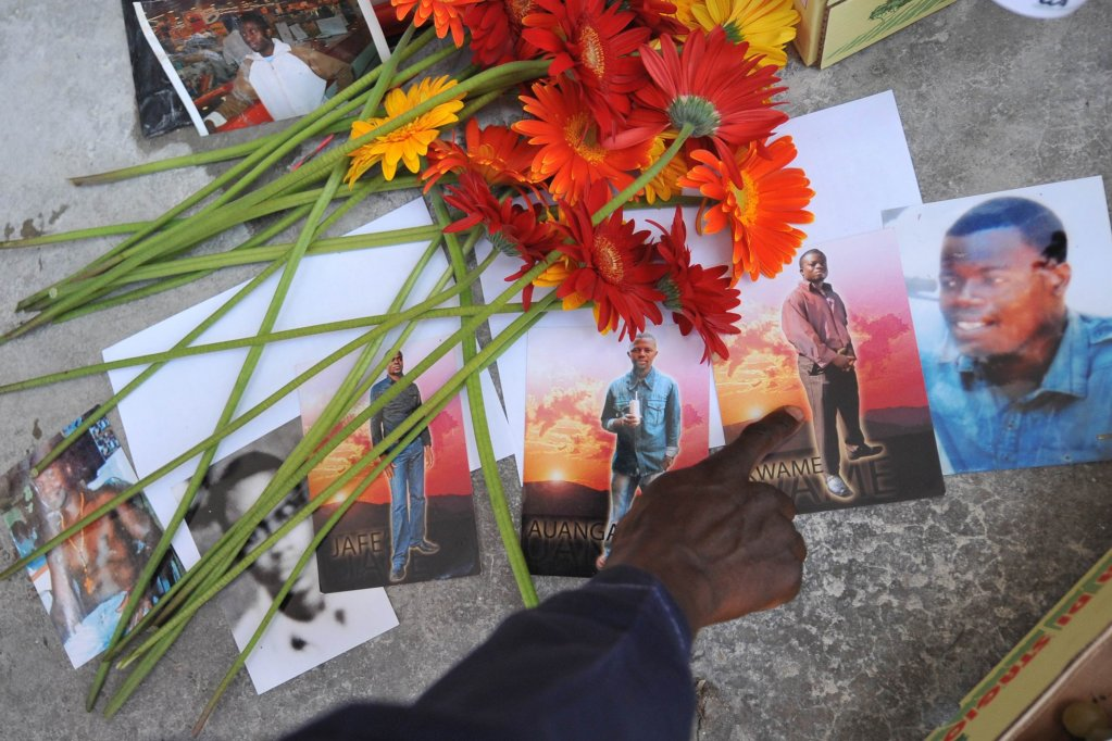 The six victims, all Ghanaian workers, killed in Castel Volturno in 2008 | Photo: ANSA / CIRO FUSCO