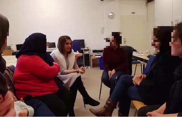 نازنین ولی، دانشجوی روان درمانی همراه با زنان پناهجوی و پناهنده در آلمان