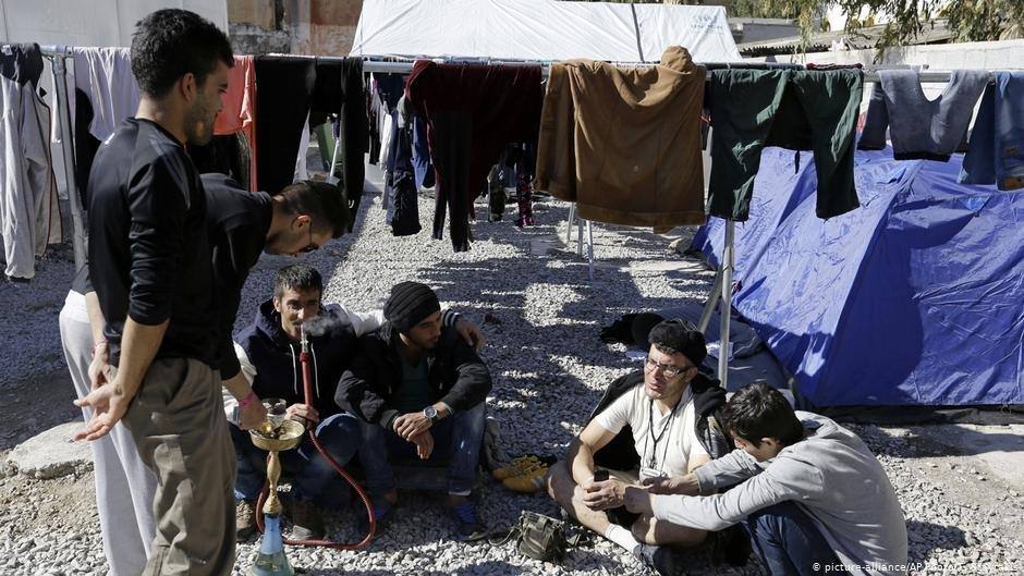 مهاجرون على جزيرة ليروس اليونانية