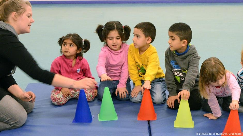 Children playing at a preschool in Germany | Photo: Picture-alliance/dpa/W.Grubitzsch