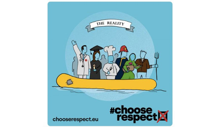 Logo for the #chooserespect campaign | Souce: Twitter @chooserespectEU