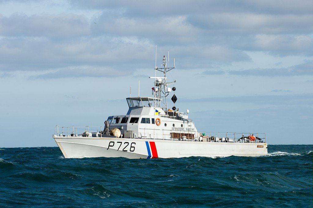 عکس از  پولیس دریایییشمال و کانال مانش فرانسه