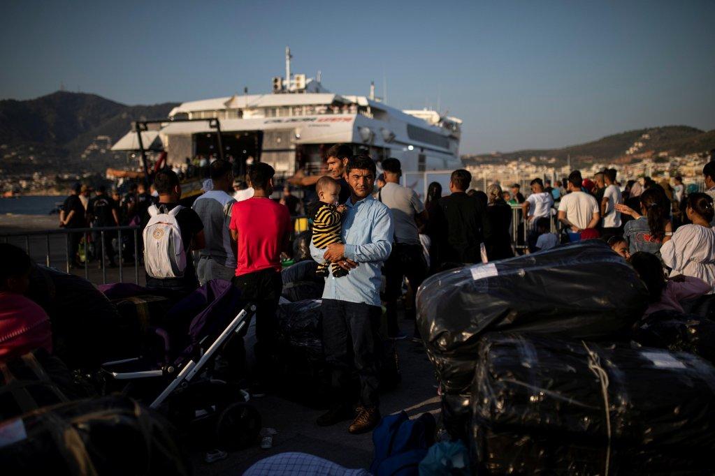 REUTERS/Alkis Konstantinidis |Des migrants afghans sur l'île de Lesbos le 2 septembre 2019.