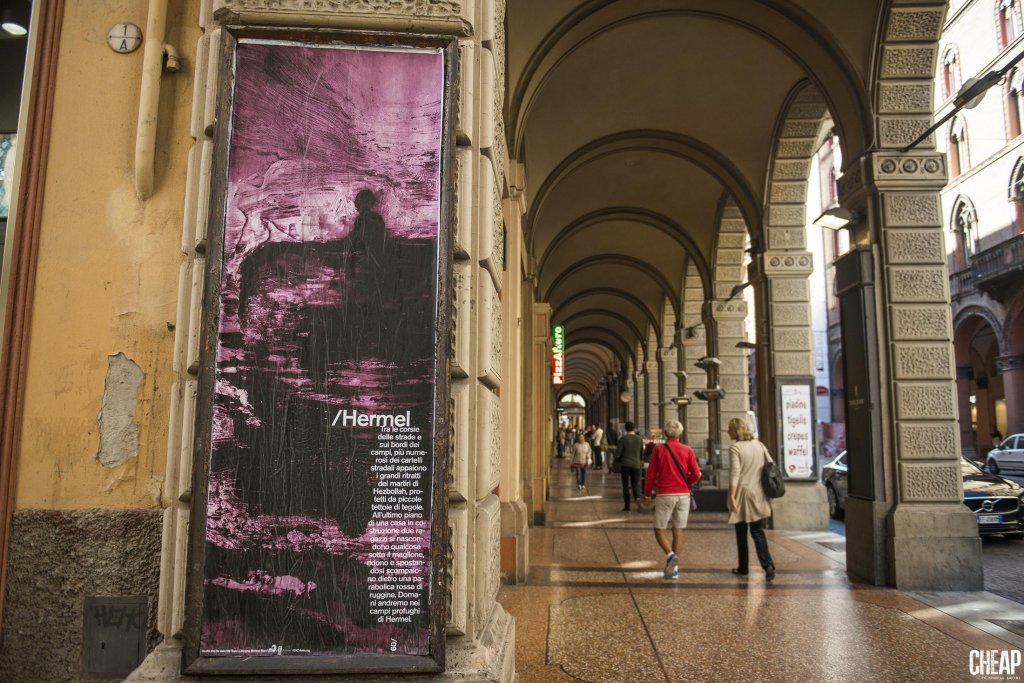 One of the paintings under the porticos in Bologna. Credit: GVC