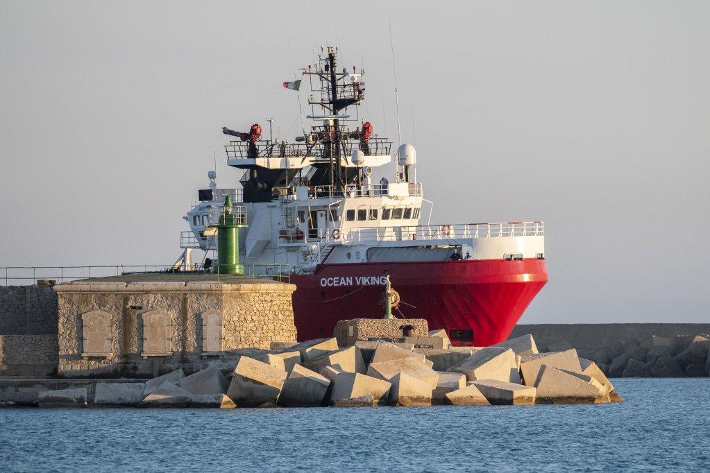 کشتی نجات «اوشین وایکینگ»، جولای سال ۲۰۲۰/ عکس از Giovanni ISOLINO/AFP