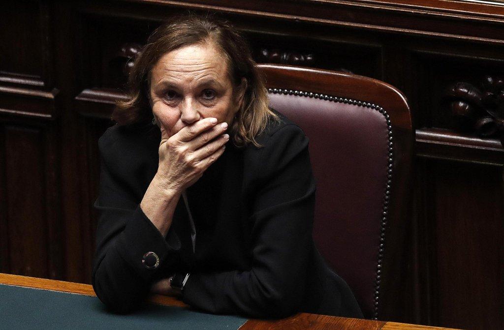 ANSA / وزيرة الداخلية الإيطالية لوشيانا لامورغيزي خلال وجودها في مجلس النواب. المصدر: أنسا / ريكاردو انتيميني.