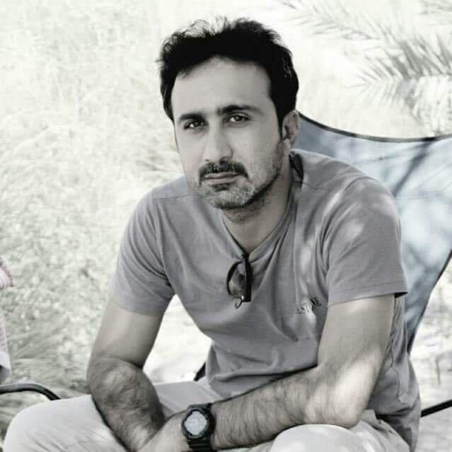 بلوچ خبریال ساجد حسین. انځور: له فېسبوک څخه