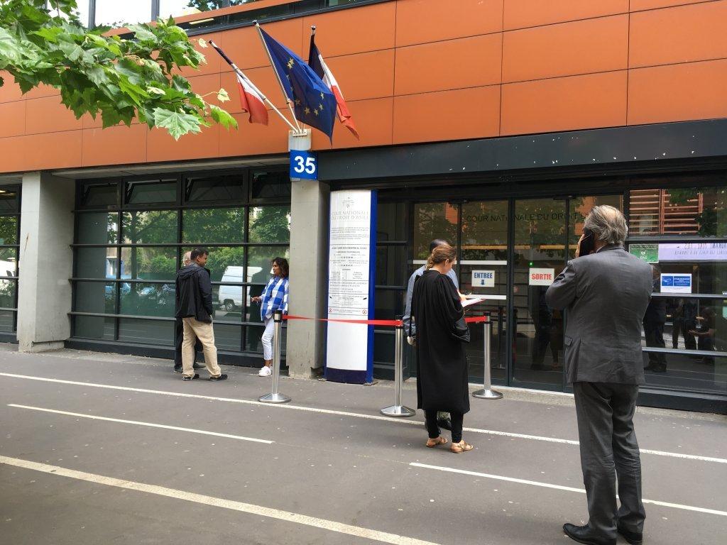 L'entrée de la CNDA, située à Montreuil. Crédit : InfoMigrants (Archive)