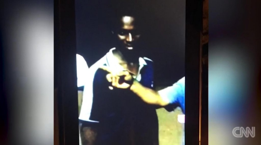 The photo shows a still from a CNN video with a young man, probably Nigerian, who was sold at an auction of human beings in Libya. November 14, 2017