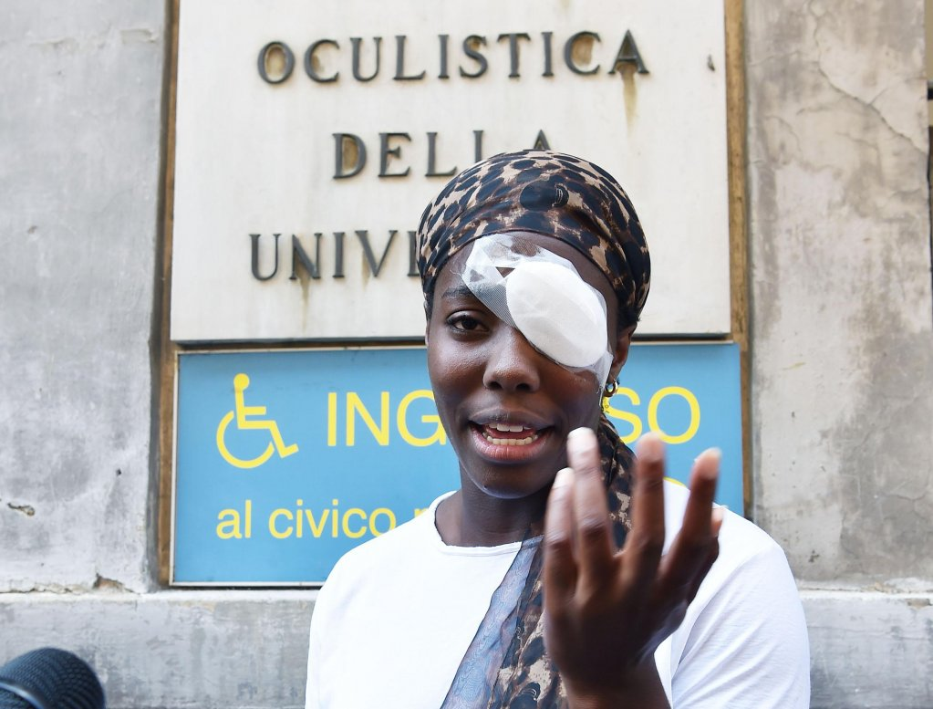 Daisy Osakue, an Italian athlete of Nigerian origins who was attacked in Moncalieri. PHOTO/ANSA/ALESSANDRO DI MARCO