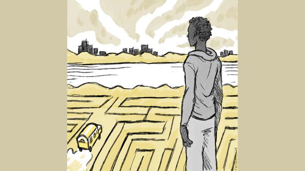 Éric est bloqué en Tunisie depuis plusieurs mois. Crédit : Baptiste Condominas