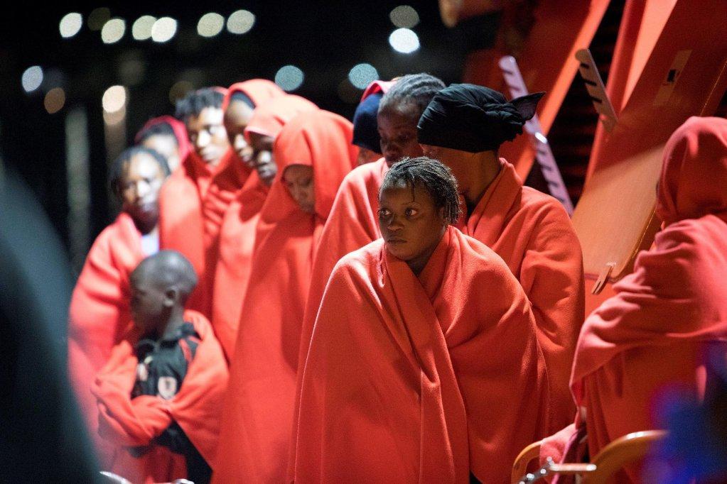 Image d'archives de migrants arrivés en Espagne. Crédit : EPA