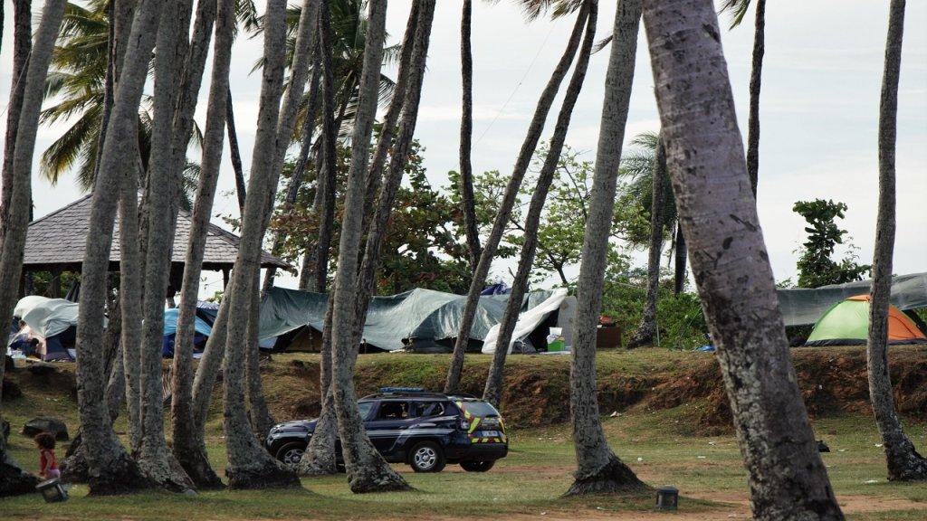 Pointe Buzaré مخيم للمهاجرين على شاطئ مدينة كايين في غويانا الفرنسية. الصورة: دانا البوز