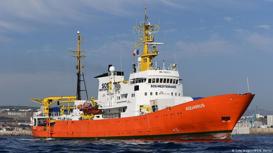 The rescue ship Aquarius in the French port of Marseille. | Photo: Boris Horvat / AFP / Getty