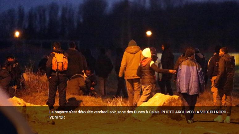 """محل درگیری مهاجران افغان و ایرانی در شهر کاله فرانسه. عکس از: نماگرفت روزنامه محلی """"صدای شمال""""."""