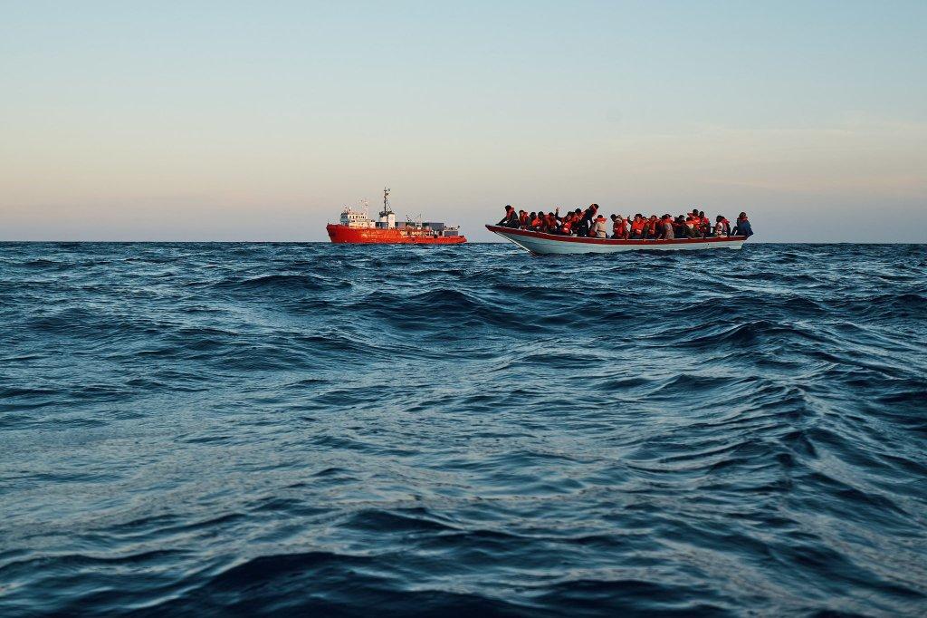 Le Sea-Eye 4 a secouru plus de 400 personnes au large de la Libye lors de six opérations de sauvetage. Crédit : Sea-Eye