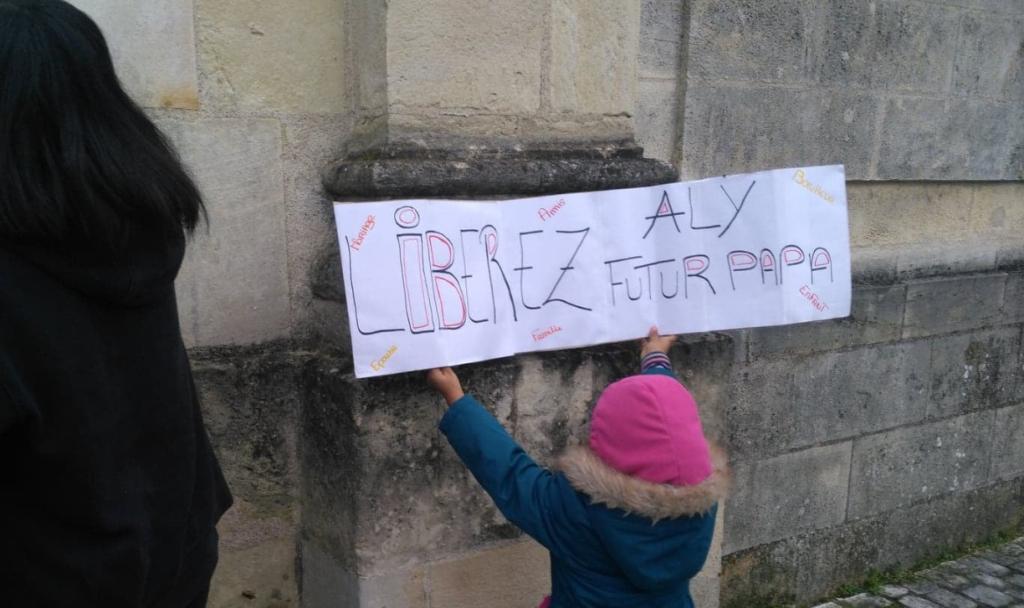 Manifestation de soutien à Aly Diawara, le 31 décembre 2019. Compte Facebook d'Ingrid Berthet.